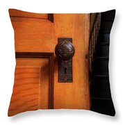 Vintage Door And Stairs Throw Pillow