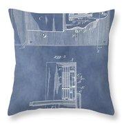 Vintage Door Lock Patent Throw Pillow
