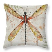 Vintage Dragonfly-jp2563 Throw Pillow