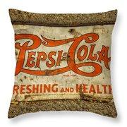 Vintage Drink Pepsi Cola 5 Cents Dsc07157 Throw Pillow