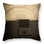 Vintage Electric Meter Throw Pillow