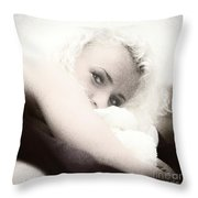 Vintage Eyes Throw Pillow