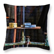 Vintage Factory Sink Throw Pillow