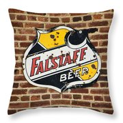 Vintage Falstaff Beer Shield Dsc07192 Throw Pillow
