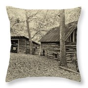 Vintage Farm Buildings Throw Pillow