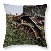 Vintage Farm Tractor Color Throw Pillow