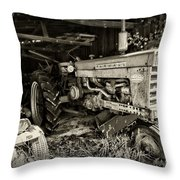 Vintage Farmall 460 Tractor Throw Pillow