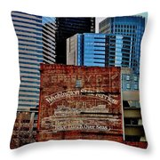 Vintage Ferry Advertisement Throw Pillow by Benjamin Yeager