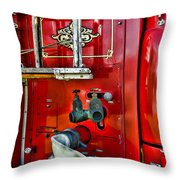 Vintage Fire Truck Throw Pillow