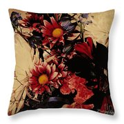 Vintage Floral Beauty  Throw Pillow