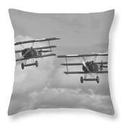 Vintage Fokker Triplane Throw Pillow