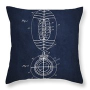 Vintage Football Patent Drawing From 1923 Throw Pillow