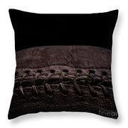 Vintage Football Square Format Throw Pillow