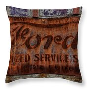 Vintage Ford Authorized Service Sign Throw Pillow