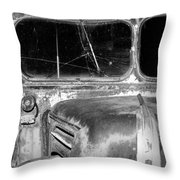 Vintage Ford Bus In Minnesota Throw Pillow