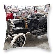 Vintage Ford Motor Vehicle Throw Pillow by Douglas Barnard