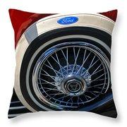 Vintage 1931 Ford Phaeton Spare Tire Throw Pillow