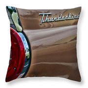 Vintage Ford Thunderbird Throw Pillow