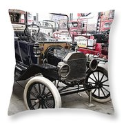 Vintage Ford Vehicle Throw Pillow by Douglas Barnard