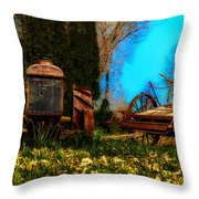 Vintage Fordson Tractor Throw Pillow