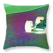 Vintage Formula 1 Race Throw Pillow