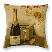 Vintage French Poster Andrieux Wine Throw Pillow