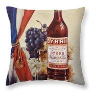 Vintage French Poster Byrrh Throw Pillow