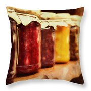 Vintage Fruit And Vegetable Preserves I Throw Pillow