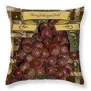 Vintage Fruit Of The Vine Throw Pillow