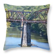 Vintage Garden City Bridge Throw Pillow