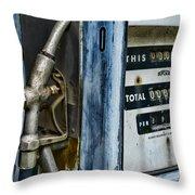 Vintage Gas Pump 2 Throw Pillow