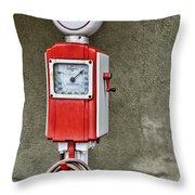 Vintage Gas Station Air Pump 2 Throw Pillow