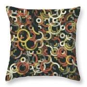 Vintage Geometric Circle Segment Pattern Throw Pillow