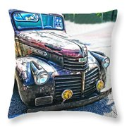 Vintage Gm Truck Frontal Hdr Throw Pillow