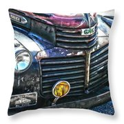 Vintage Gm Truck Hdr 2 Grill Art Throw Pillow