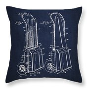 Vintage Golf Cart Drawing From 1943 Throw Pillow