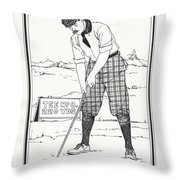 Vintage Golfer 1900 Throw Pillow