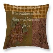 Vintage Grapes Throw Pillow