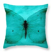 Vintage Grunge Butterfly Throw Pillow
