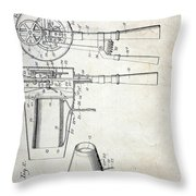 Vintage Hair Dryer Patent Throw Pillow