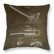 Vintage Hammer Patent Throw Pillow