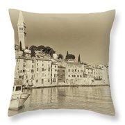 Vintage Harbor Throw Pillow