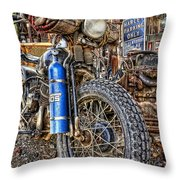 Vintage Harley With Nos Throw Pillow