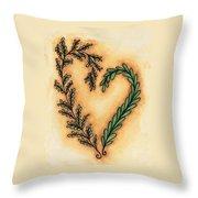 Vintage Heart Wreath Throw Pillow