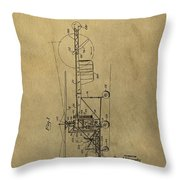 Vintage Helicopter Patent Throw Pillow