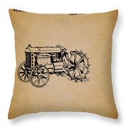Vintage Henry Ford Tractor Patent Throw Pillow