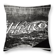 Vintage Hero Sign In Black And White  Throw Pillow