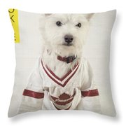 Vintage Hockey Rookie Player Card Throw Pillow