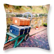 Vintage Honeymoon Throw Pillow