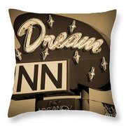Vintage Hotel - Motel Sign Throw Pillow